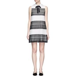 Alice + Olivia Hilly Lace Mini Dress